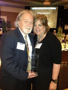 Ron Stutts with wife, Bev - 2012 NCAB Personality of the Year (June 24, 2013)