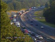 I-40 at NC 54 (exit 273) 7:52 a.m.