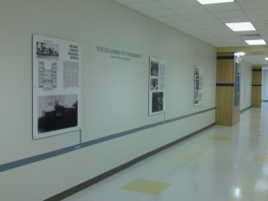 Northside Elementary history wall