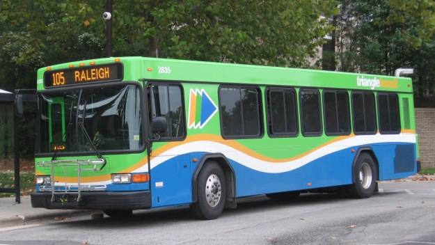 Triangle Transit Uses New Bus On Shoulder Program