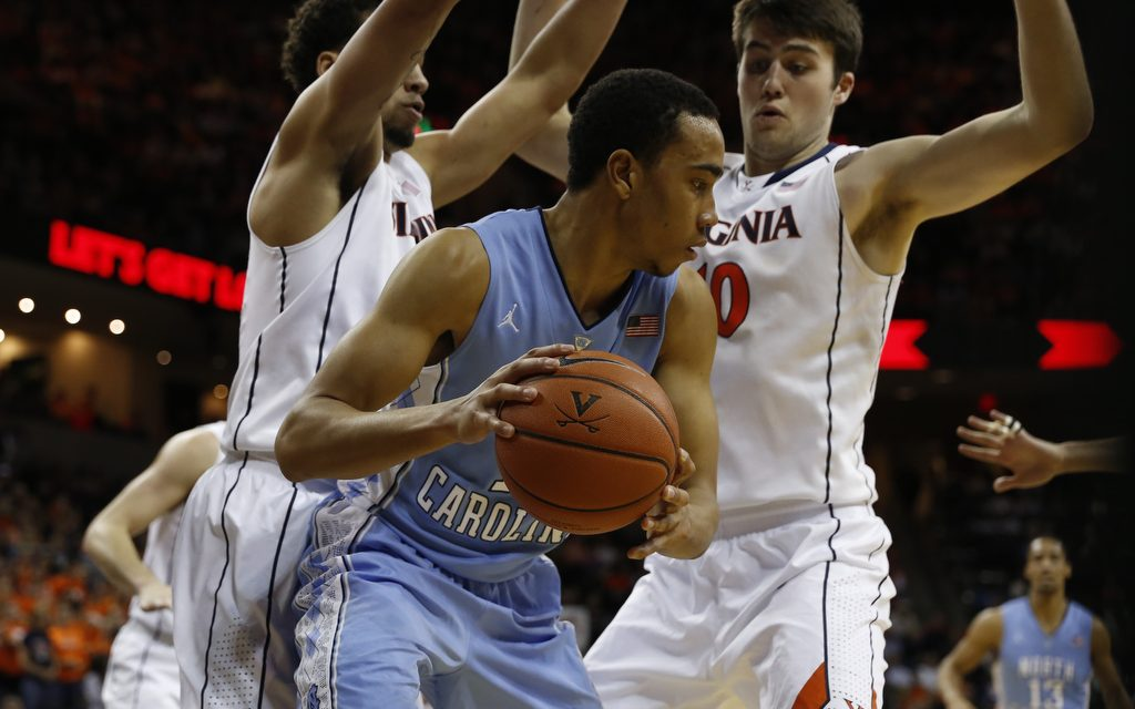 Tar Heels Can't Keep Pace With Hot-Shooting Cavaliers, Fall 76-61