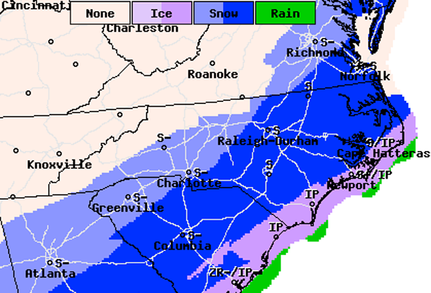 Winter Weather Advisory: Tuesday 12:00 noon to Wednesday 12:00 noon