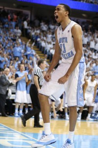 Johnson showing some passion. (Todd Melet)