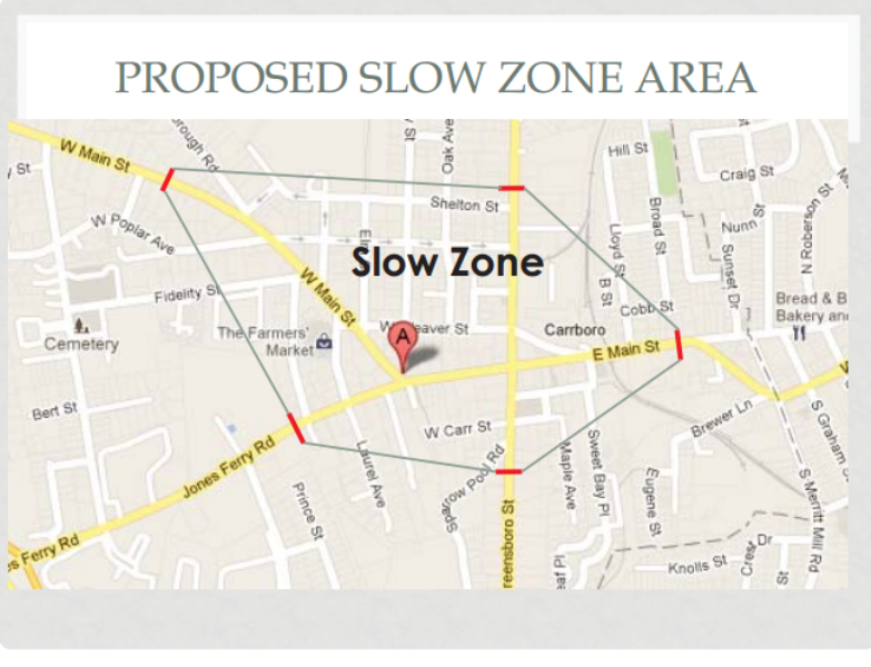"""Carrboro Entertains Possible """"Slow Zone"""" In Downtown"""