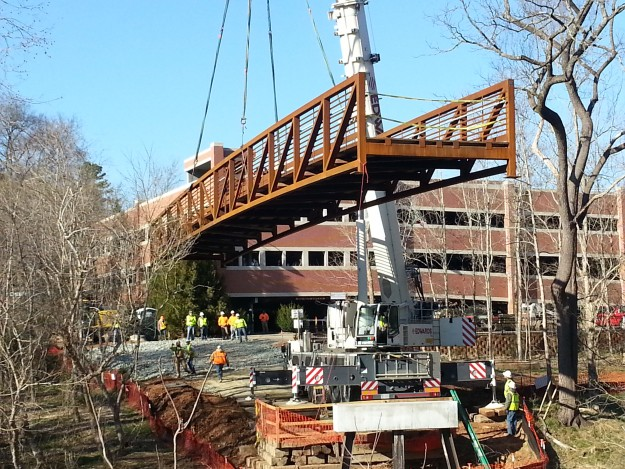 2nd Phase of Riverwalk Trail Could Be Open By Summer, Hillsborough Celebrates Bridge Installation