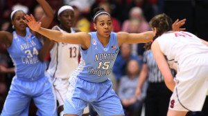 Allisha Gray led UNC with 19 points (UNC Athletics)