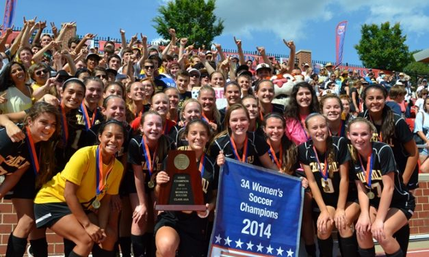 2014 NCHSAA Women's Soccer Championship Celebration