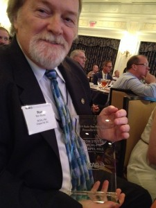 Ron immediately following the presentation of the award Tuesday