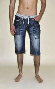 Fashion - men's knee-length-denim-shorts