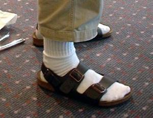 Fashion - men's socks-and-sandals