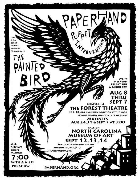 PaintedBird-PaperhandPuppetIntervention2014