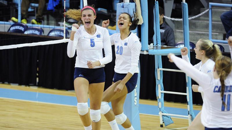 Volleyball: Tar Heels Take Down Previously Unbeaten LSU