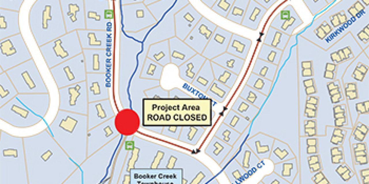 Parts of Booker Creek Road Closed