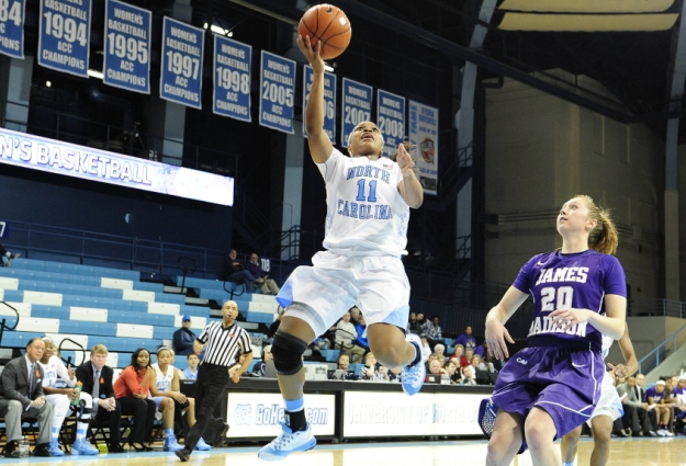Tar Heel Women Crush Wolfpack for First ACC Win