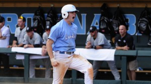 Lassiter fired up. (UNC Athletic Communications)