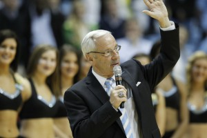 Coach Williams addressing the crowd (Todd Melet)