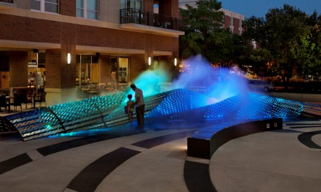 Chapel Hill Holding Focus Group on 140 West Plaza, Exhale Sculpture
