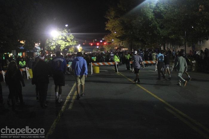 Chapel Hill Prepares for 2018 Halloween on Franklin Street