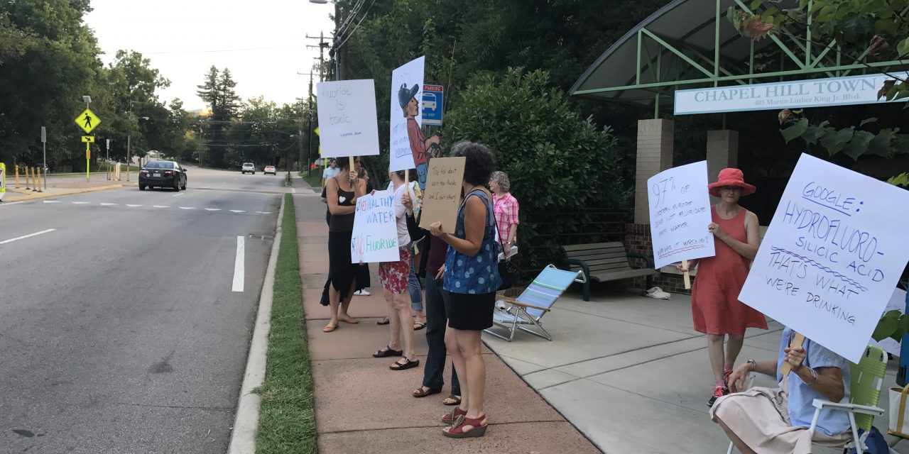 Residents Protest Fluoride In OWASA Drinking Water