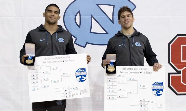 Ethan Ramos, Troy Heilmann Claim First Place at ACC Wrestling Championships