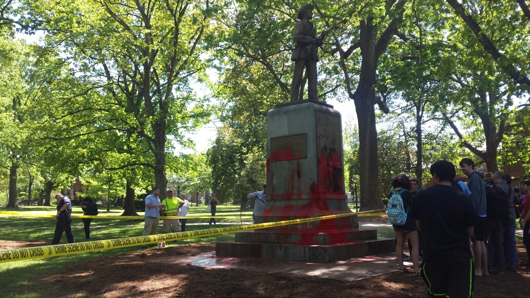UNC Grad Student Charged with Defacing Silent Sam