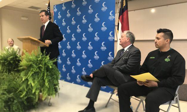 Governor Cooper Touts New Community College Student Grants in Pittsboro