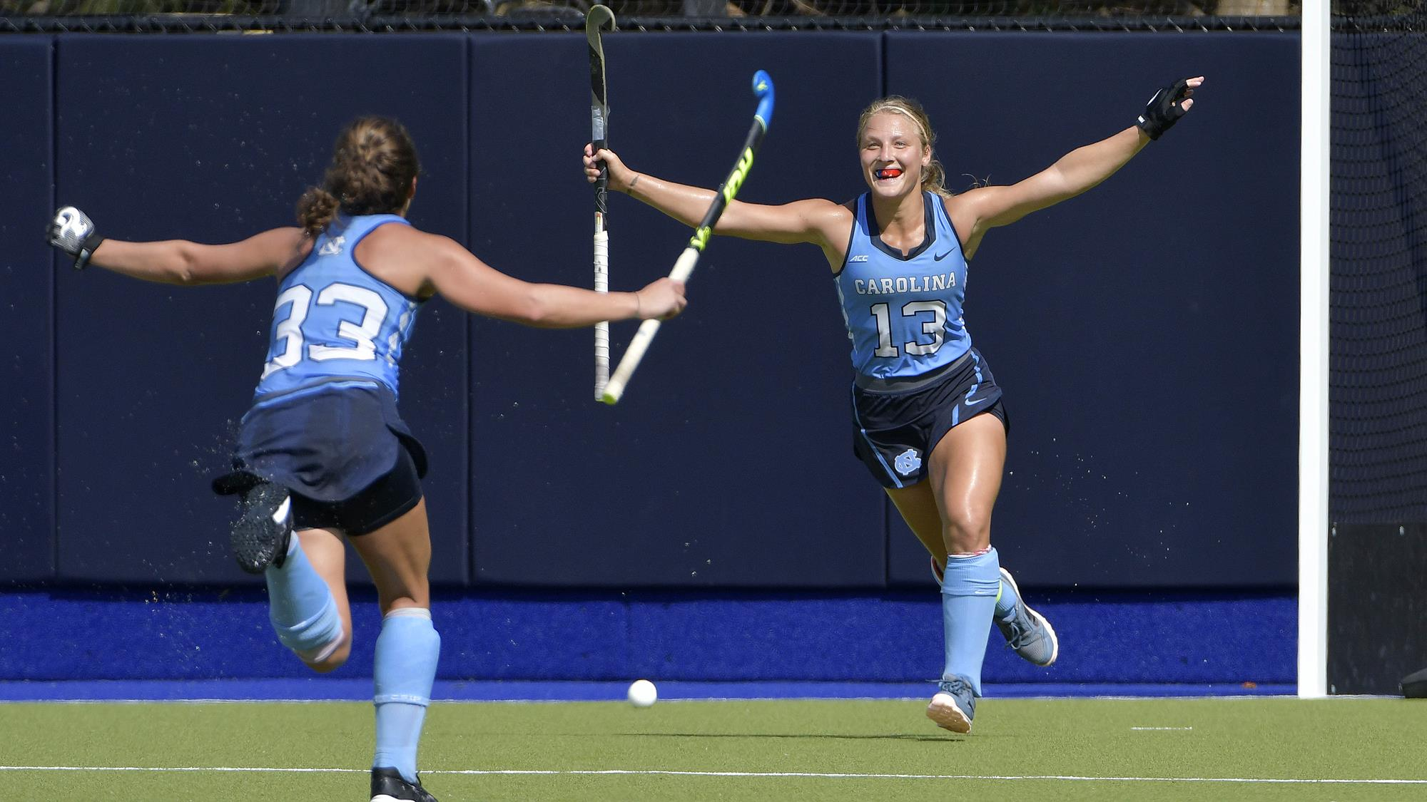 hoffman s overtime goal lifts unc field hockey past no 20 iowa
