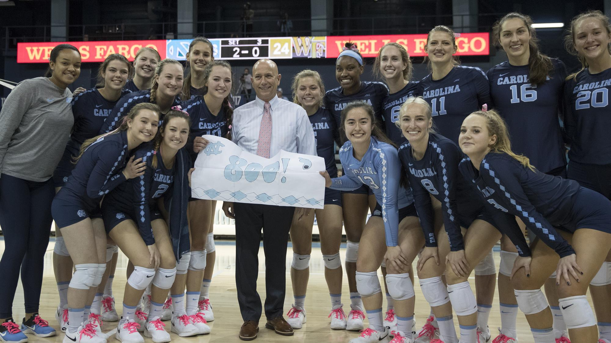 Unc Volleyball Sweeps Wake Forest To Snap 10 Match Losing Skid Hand Head Coach Joe Sagula 800th Career Victory Chapelboro Com
