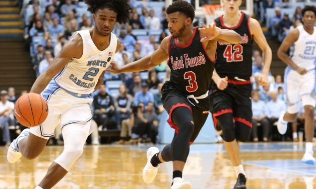 Coby White to Miss Wednesday's Game vs. UNCW With Ankle Injury