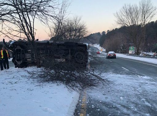 Car Overturned in Chapel Hill, Authorities Warn Residents to Stay Off Roads