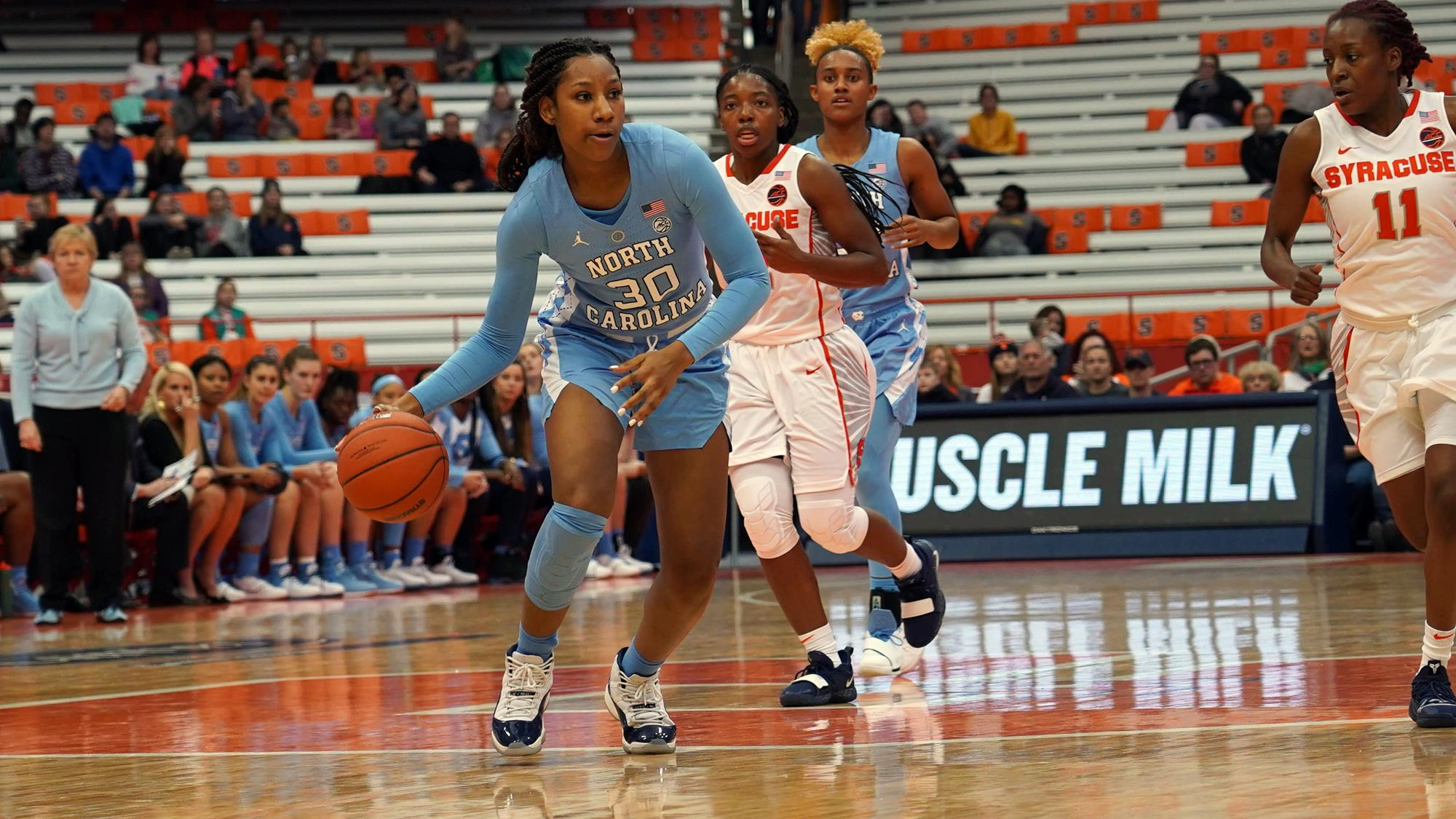 No 12 Syracuse Makes Easy Work Of Unc Women S Basketball
