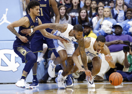 "Bench Steps Up as No. 13 UNC Finally Wins ""Ugly"" in Victory Over Notre Dame"