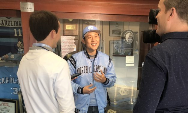 UNC Baseball Fan Travels From Thailand, Throws Out First Pitch