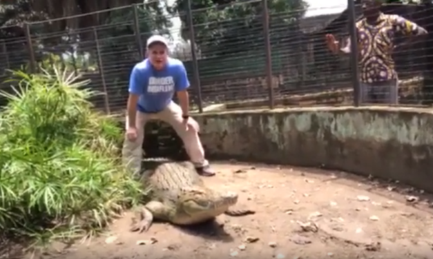 UNC Professor & Video Journalist Jim Kitchen Gets Up Close and Personal With a Nile Crocodile in Burundi