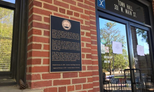 New Local History 'Truth Plaque' the 1st of Many for Carrboro