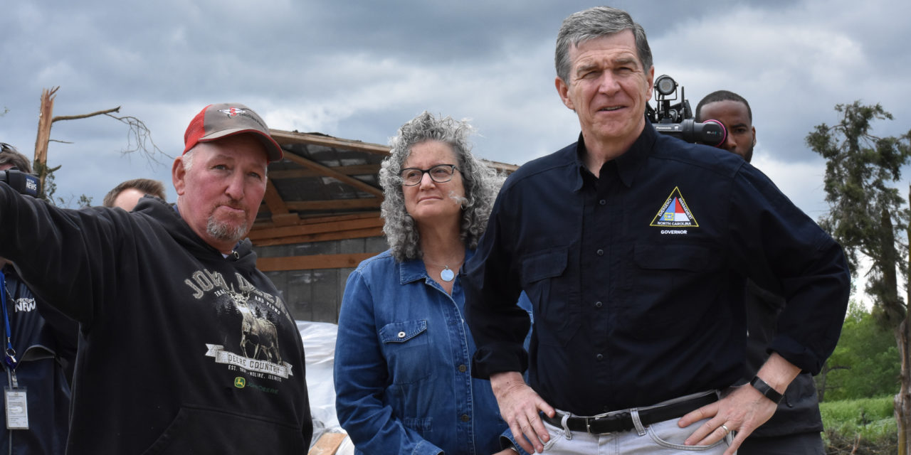 Governor Roy Cooper Visits Maple View Farm To Survey Tornado Damage