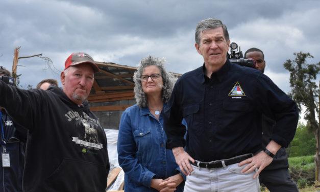 Governor Roy Cooper Visits Maple View Farm To Survey Tornado Damage