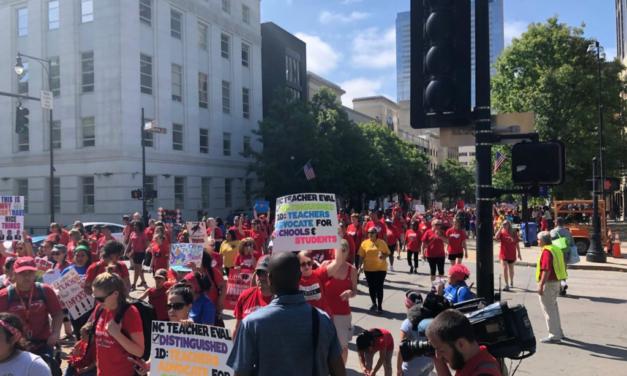 Teachers March on Raleigh Demanding Better Pay, Better Support
