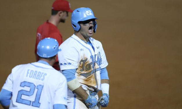 Aaron Sabato Hits for Cycle, Carries No. 20 UNC Baseball to 5-3 Victory Over No. 17 NC State