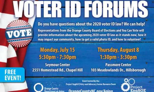 July 2nd – Orange County Voter ID Forums