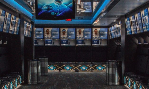 UNC Football Unveils New Locker and Weight Rooms