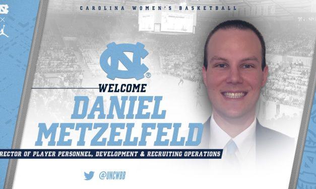 Daniel Metzelfeld Added to UNC Women's Basketball Staff