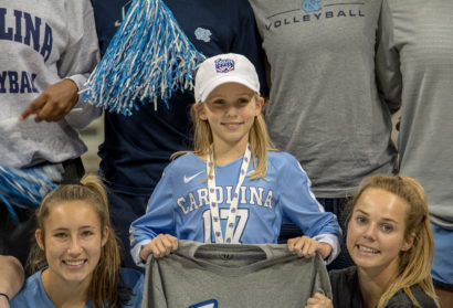 UNC Volleyball Signs 8-Year-Old Team Impact Athlete