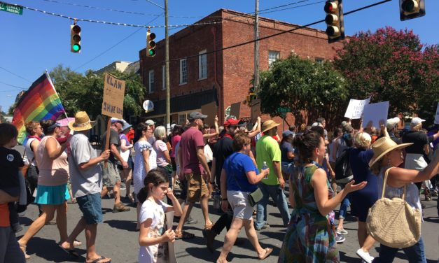 Energetic Turnout at Hillsborough March Opposing Recent White Supremacist Rally