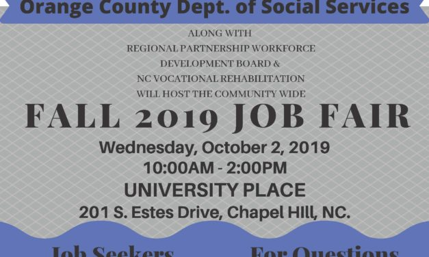 September 26th – Fall 2019 Job Fair