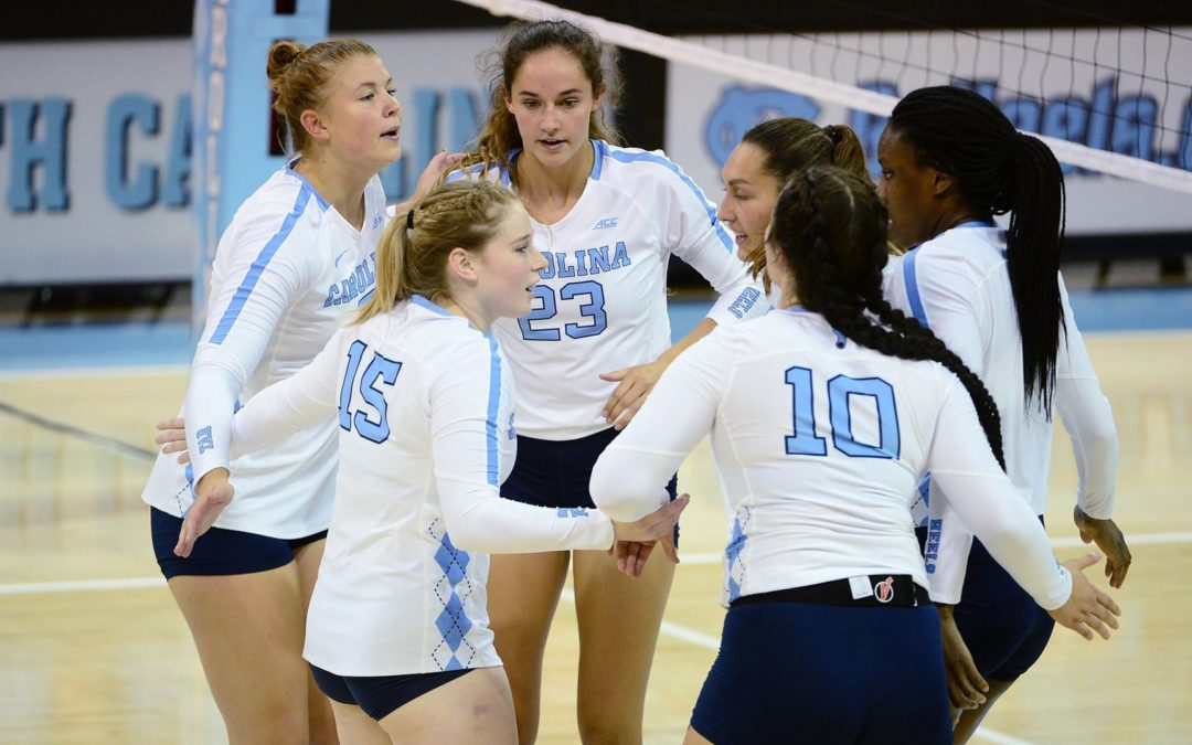VCU Edges Past UNC Volleyball