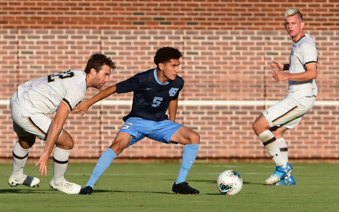 Men's Soccer: No. 11 UNC Shuts Out No. 16 Notre Dame in 2-0 Victory