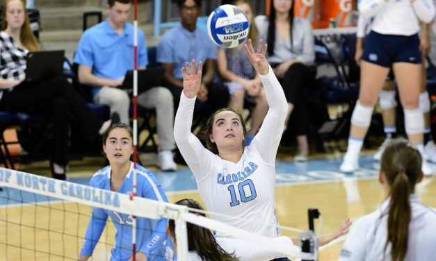 UNC Volleyball Knocks Off Colgate for Second Win of 2019