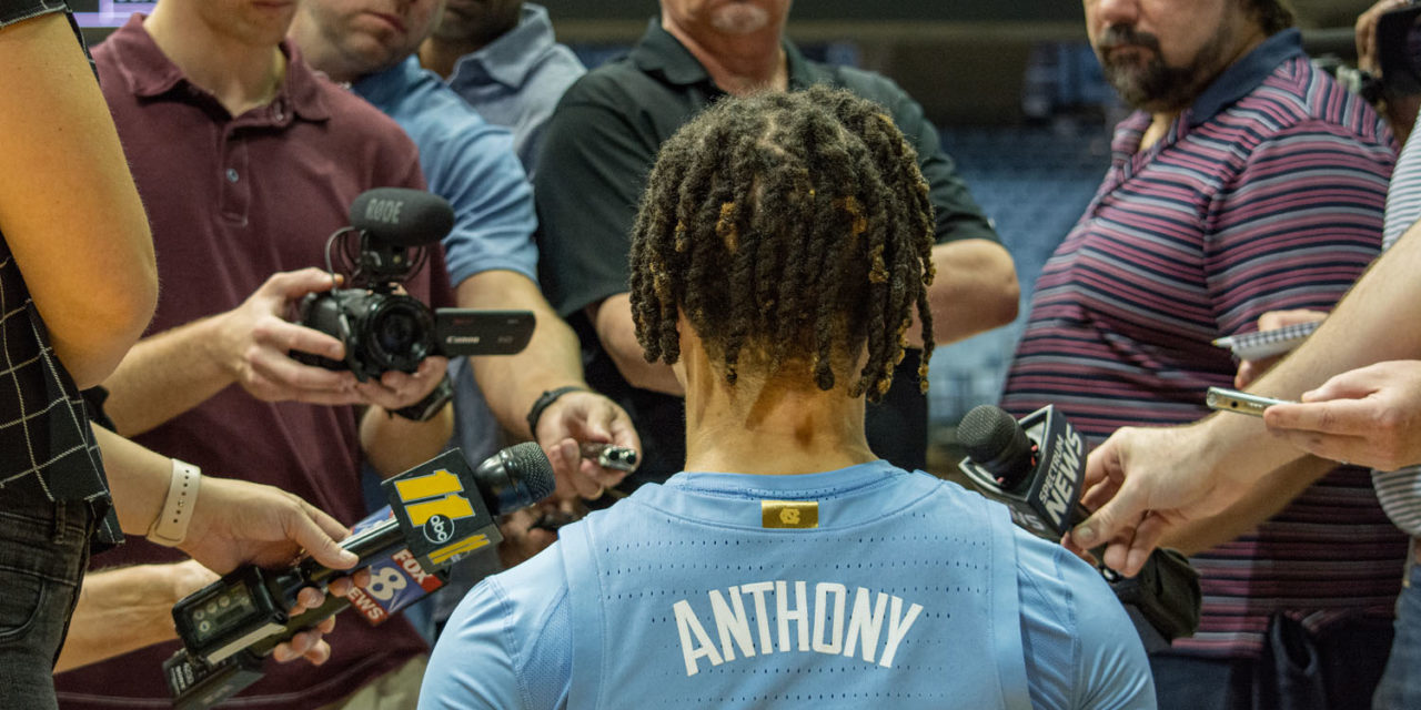 Former UNC Players, National Media React to Cole Anthony's Debut