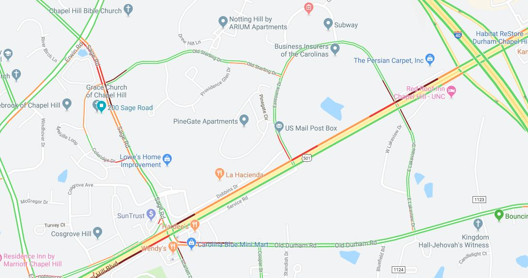 Fordham Boulevard Reopened After Crash in Chapel Hill